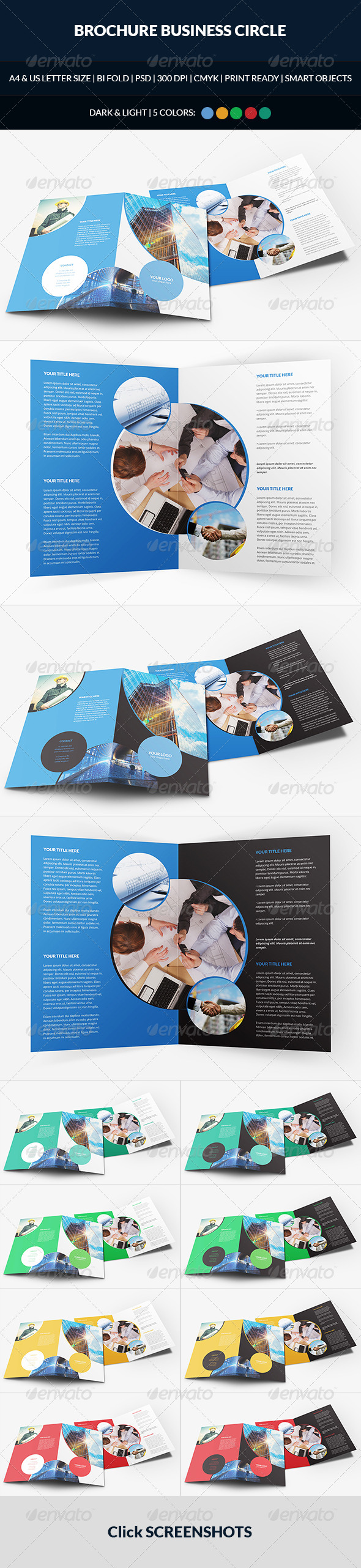 GraphicRiver Brochure Business Circle Bi-Fold 7482509