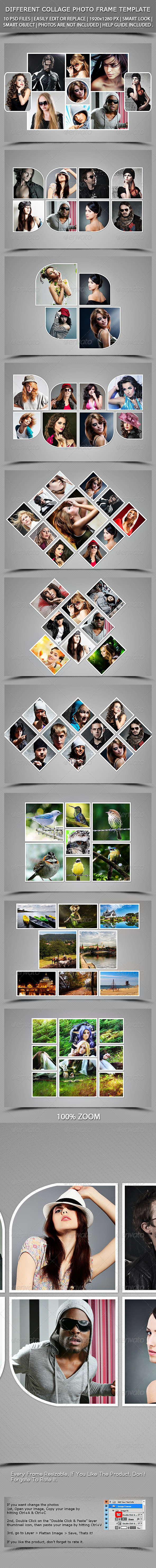 GraphicRiver Different Collage Photoframe Template 7482512