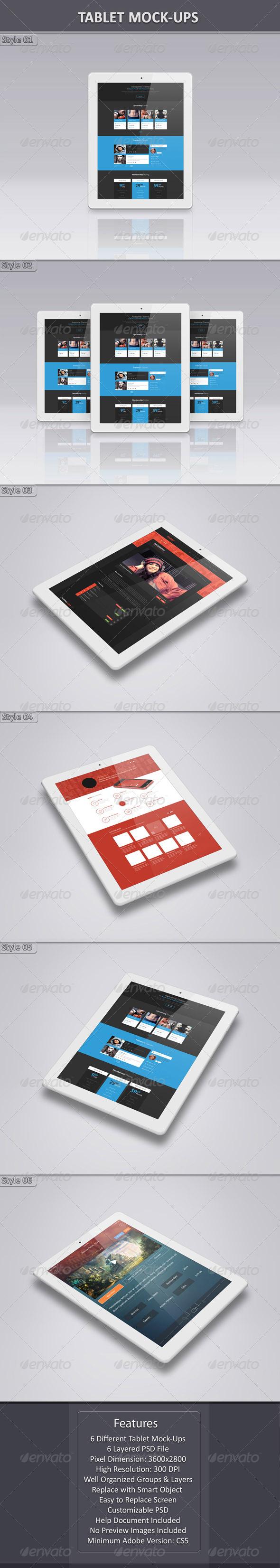 GraphicRiver Tablet Mock-Up 7484023