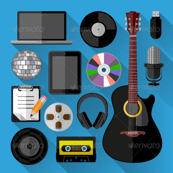 GraphicRiver Music Icons 7484162