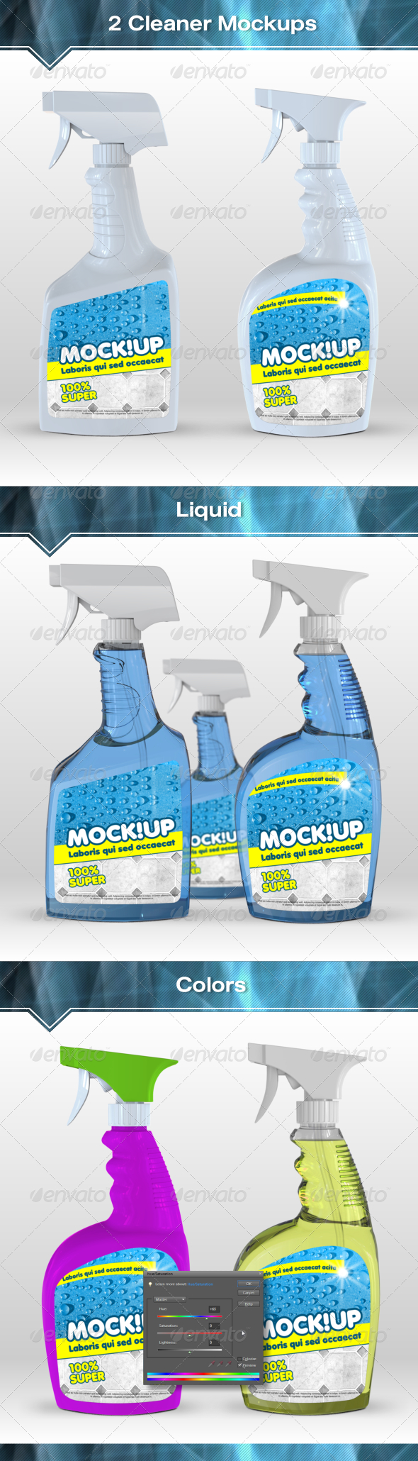 GraphicRiver 2 Cleanser Bottle Mockups 7484346