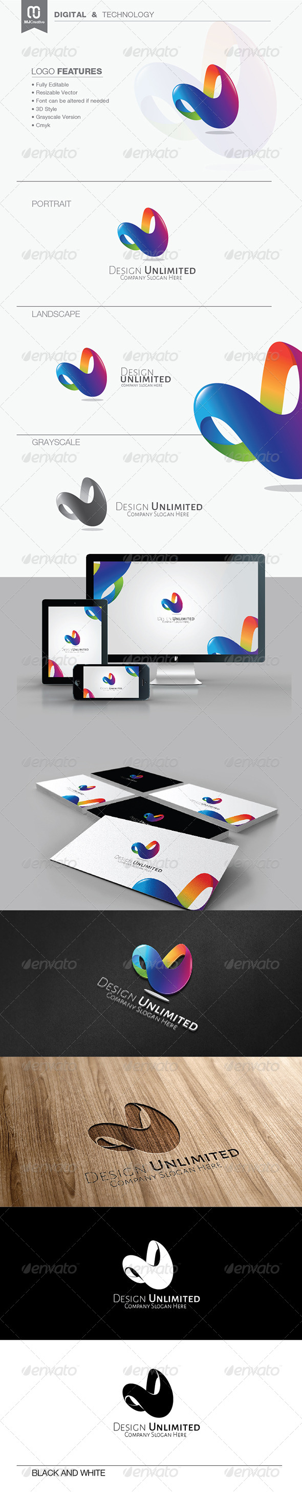 GraphicRiver Infinite Letter D Logo 7484457