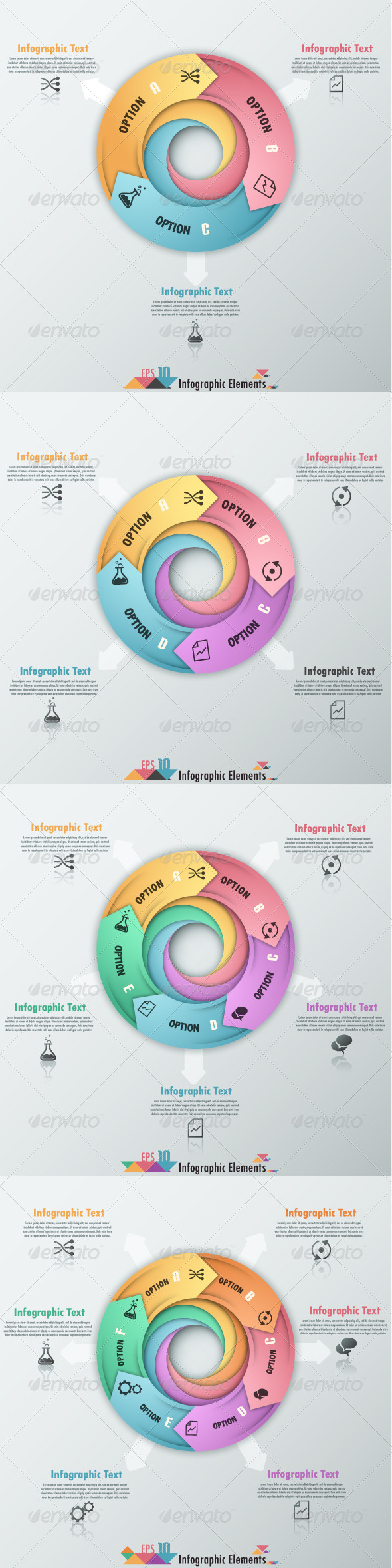 Modern Infographic Options Banner 4 Versions