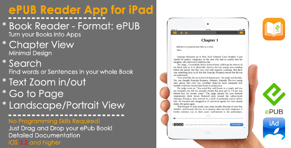 CodeCanyon eBook ePub Reader iOS Template & iAd 7484523