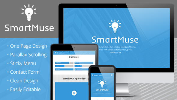 ThemeForest SmartMuse One Page Parallax Muse Template 6906156