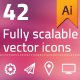 42 Fully Scalable Vector Icons - GraphicRiver Item for Sale