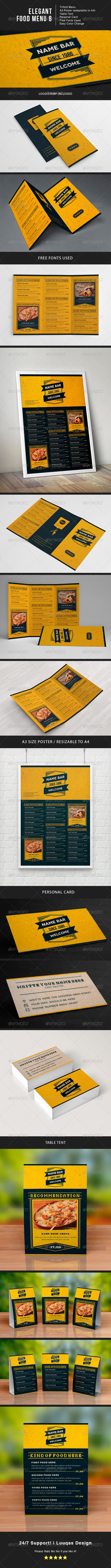 GraphicRiver Elegant Food Menu 8 7485124