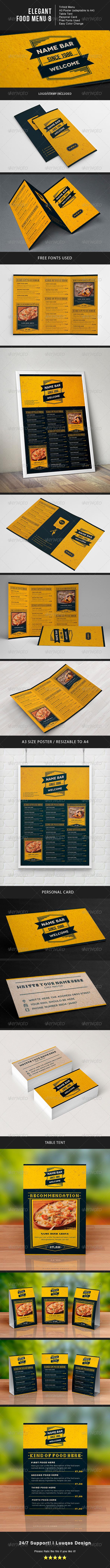 Elegant Food Menu 8 - Food Menus Print Templates