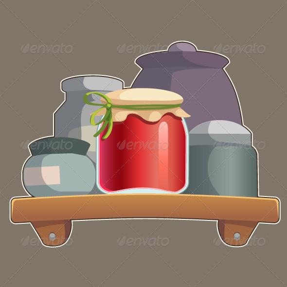 GraphicRiver Jars on a Shelf 7485809