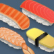 4 High Definition Delicious Sushi! + 2 beautiful bonus chopsticks