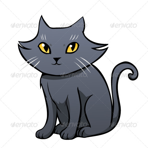 GraphicRiver Grey Cat 7485963