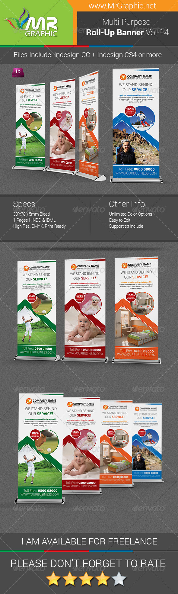 GraphicRiver Multi-Purpose Business Roll-Up Banner Vol-14 7485968