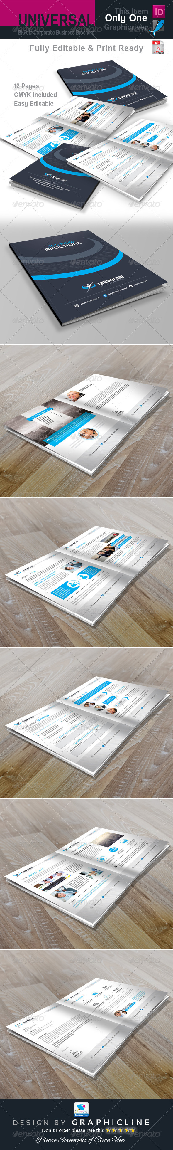 GraphicRiver Universal Corporate Bi Fold Business Brochure 7486008