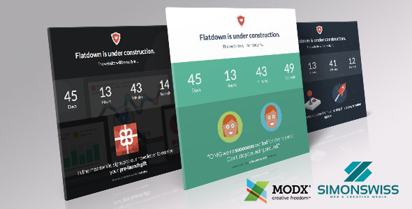 Landing Page Templates - Flatdown - <p>Coming Soon MODX Theme </p>