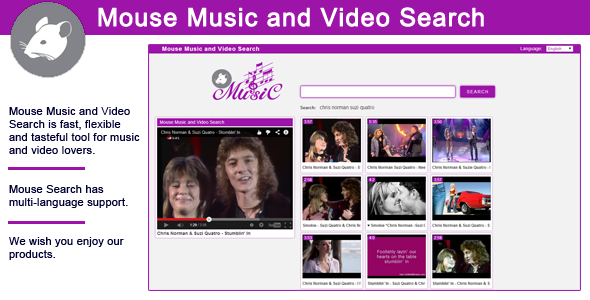 CodeCanyon Mouse Music and Video Search 7486113