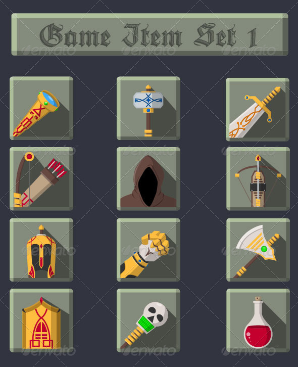GraphicRiver Game Item Set 1 7486197