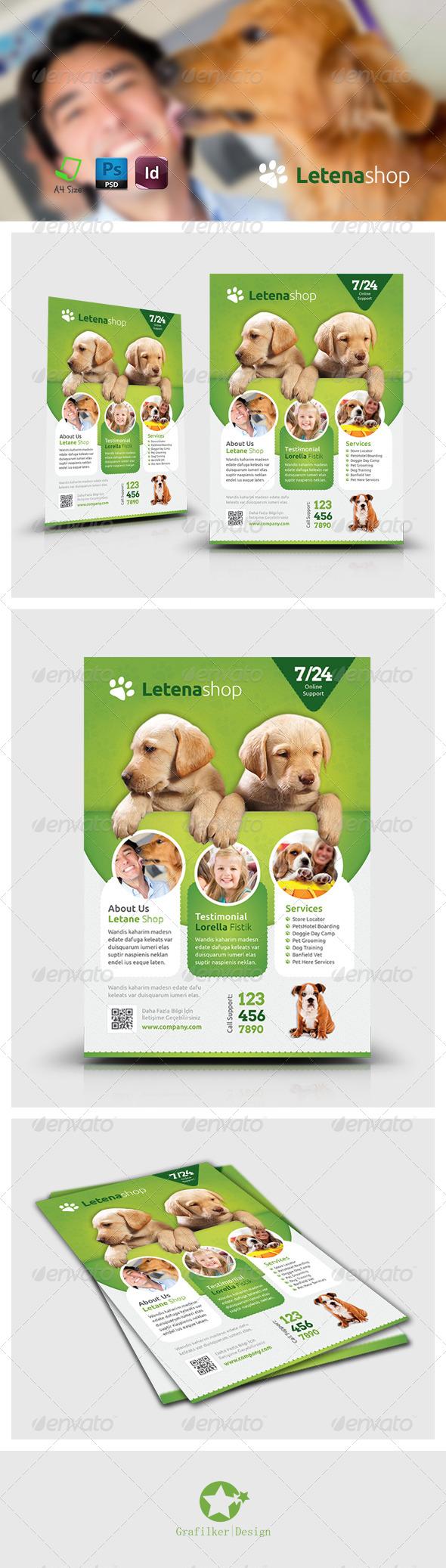 GraphicRiver Pet Shop Flyer Templates 7486321