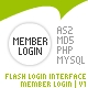 Flash Login Interface | Member Login v1 - ActiveDen Item for Sale