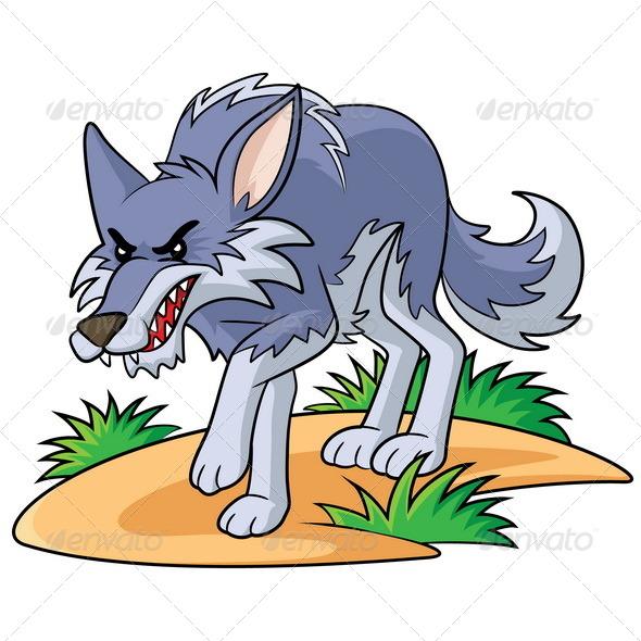 GraphicRiver Wolf Cartoon 7486414