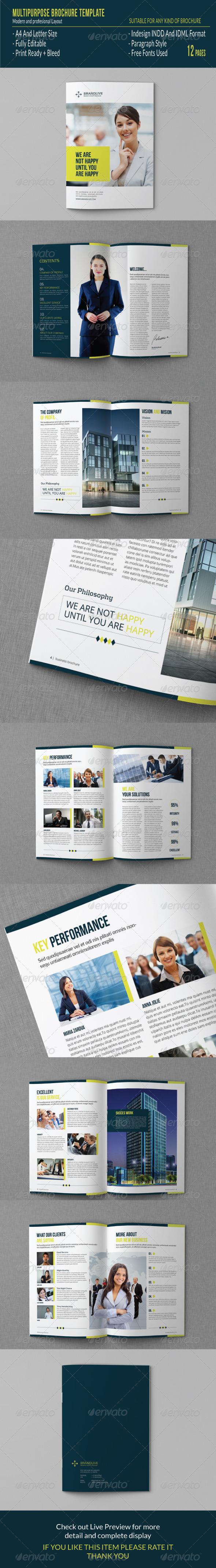 GraphicRiver Multipurpose Brochure Template 7487015