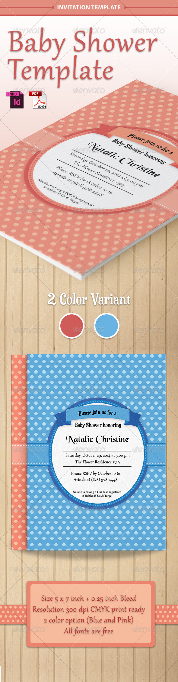 GraphicRiver Baby Shower Template Vol 1 7487378