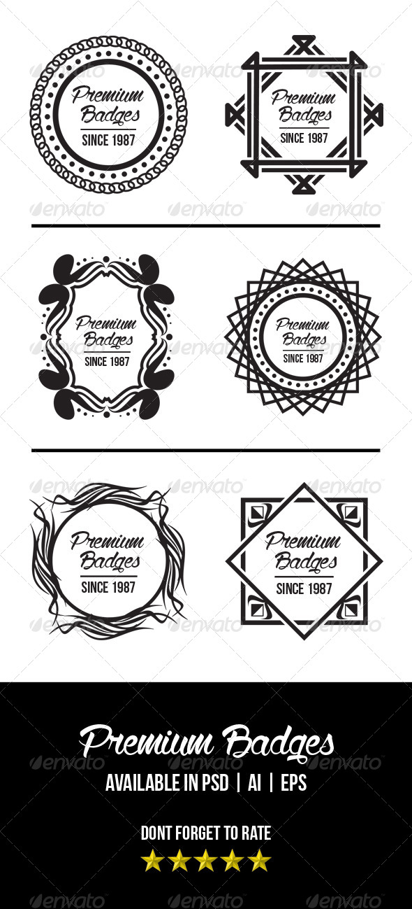 GraphicRiver 6 Premium Badges 7487451