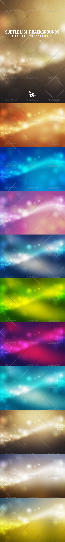 GraphicRiver Subtle Light Backgrounds 7487455