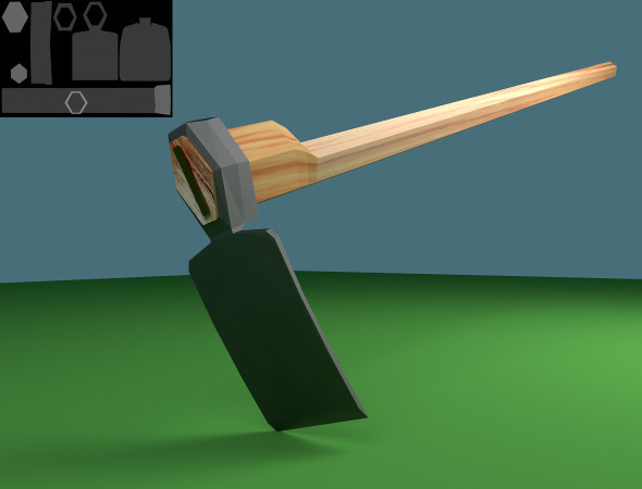3DOcean Low Poly Mattock 7487470