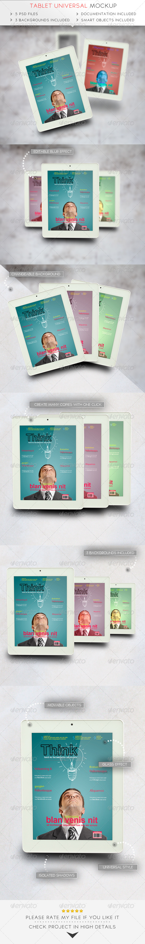 GraphicRiver Tablet Universal Mockup 7487491