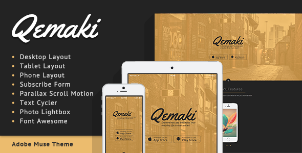 ThemeForest Qemaki App Landing Page 7328294