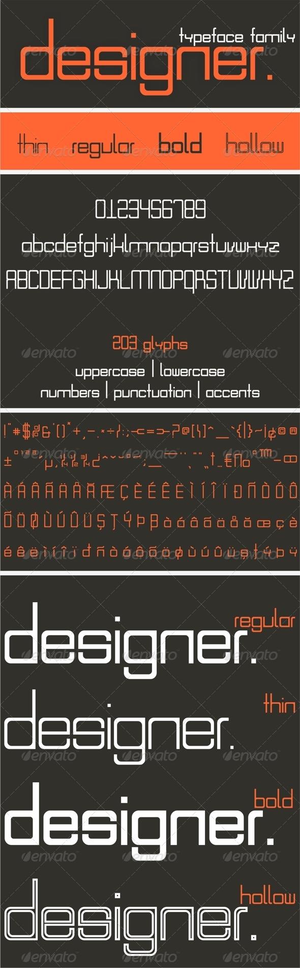 GraphicRiver Designer Font Family 7487566
