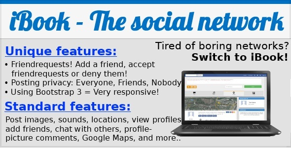 CodeCanyon iBook The ultimative social networking platform 7474329