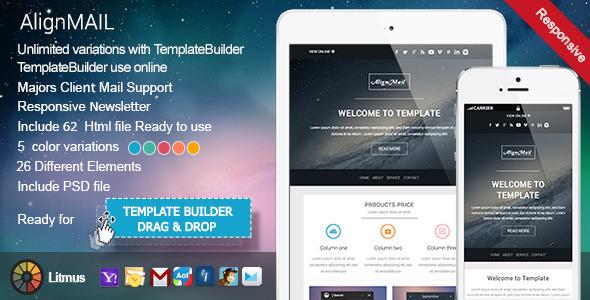 ThemeForest AlignMail Responsive Email & TemplateBuilder 7487618
