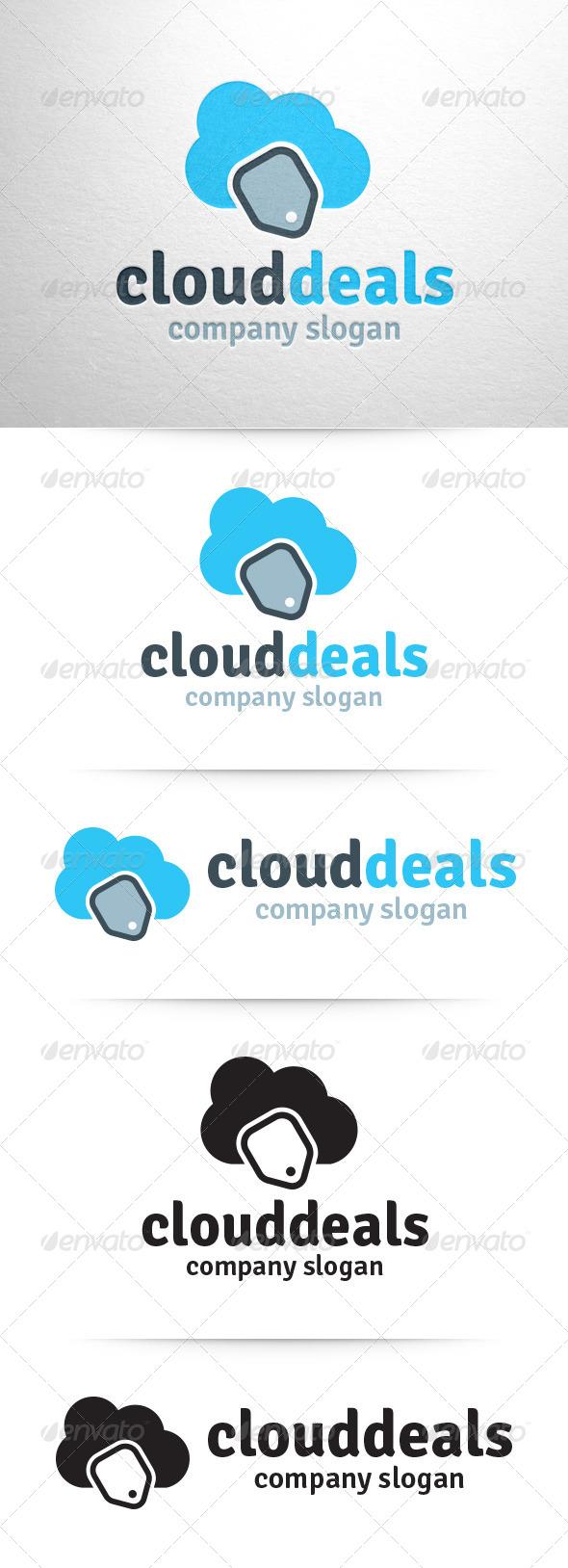 GraphicRiver Cloud Sales Logo Template 7487622
