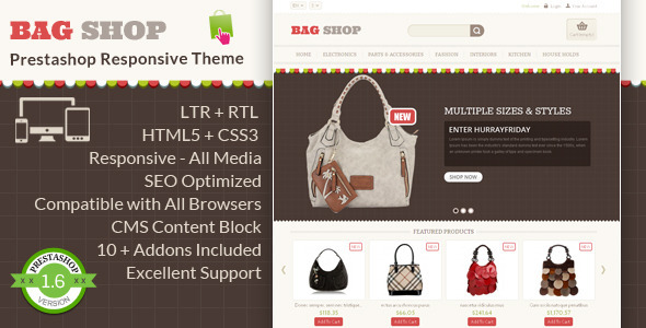 Bag Shop Prestashop Responsive Theme