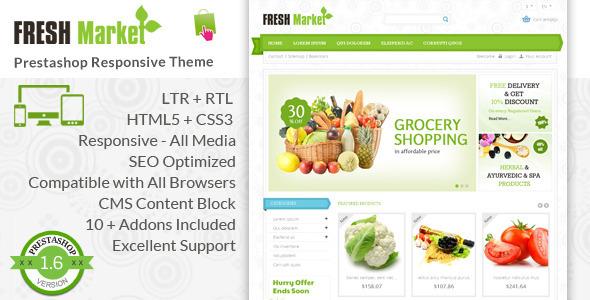 Fresh Market - Prestashop Responsive Theme - PrestaShop eCommerce