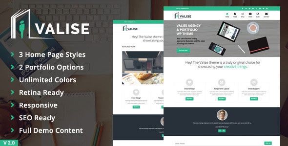 Valise - премиум тема для WordPress