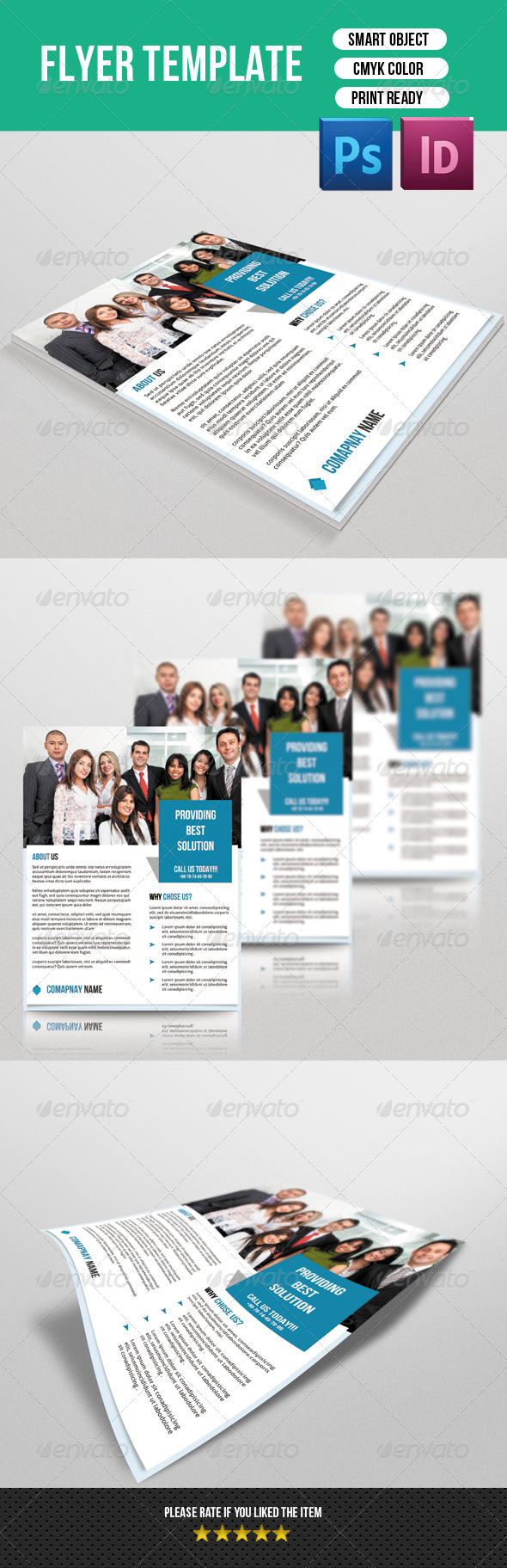 GraphicRiver Corporate Flyer Template 7488462