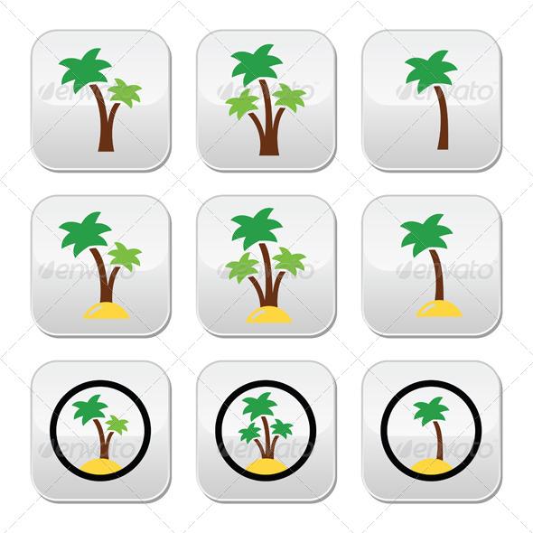 GraphicRiver Palm Trees 7488557