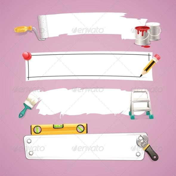 GraphicRiver Construction Text Boxes Set 7488558