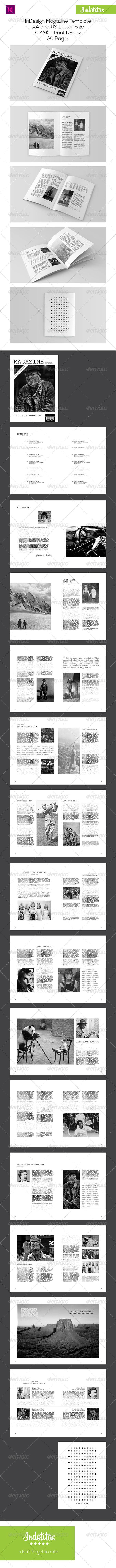 GraphicRiver Vintage Magazine Template 7469652