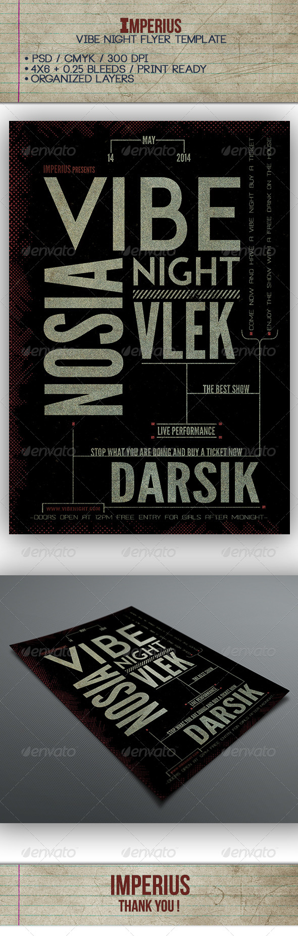 GraphicRiver Vibe Night Flyer 7488825