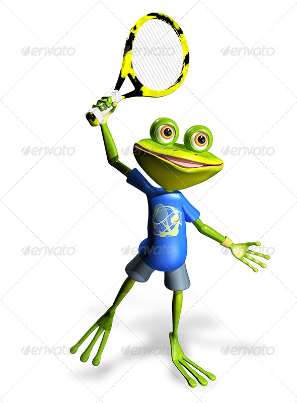 GraphicRiver Frog Tennis 7488873