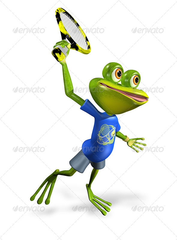 GraphicRiver Frog Tennis 7488933