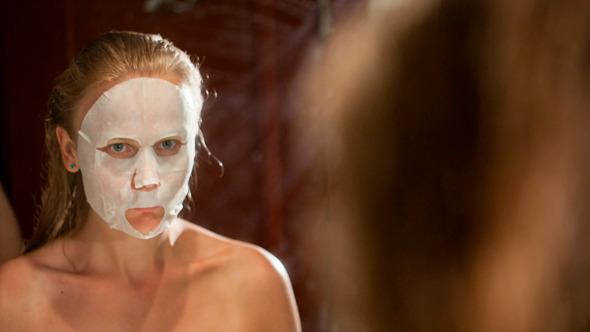 Applying Of A Facial Mask