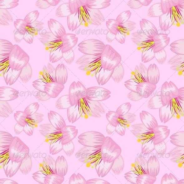 GraphicRiver Seamless Sakura Pattern 7488996