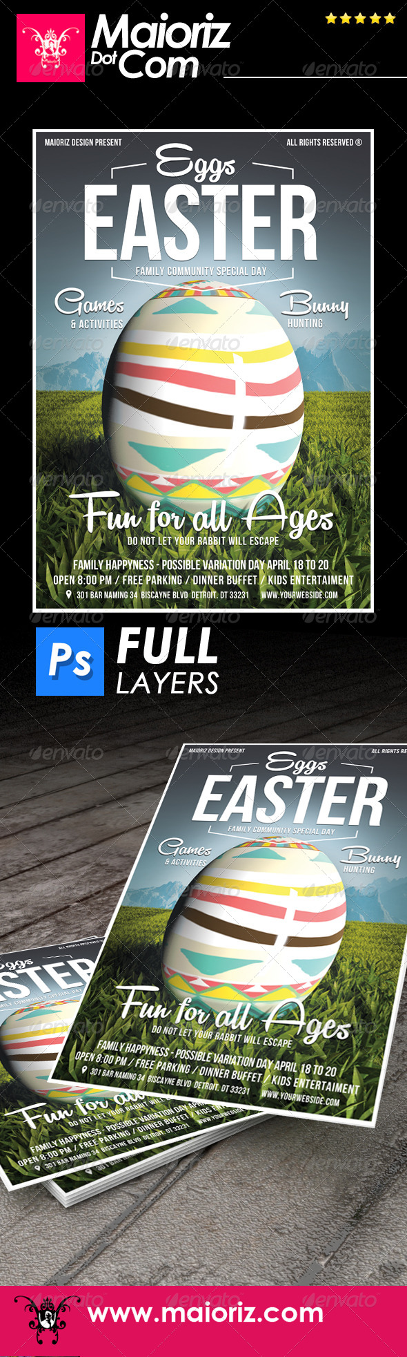 GraphicRiver Easter Event Flyer 7489080