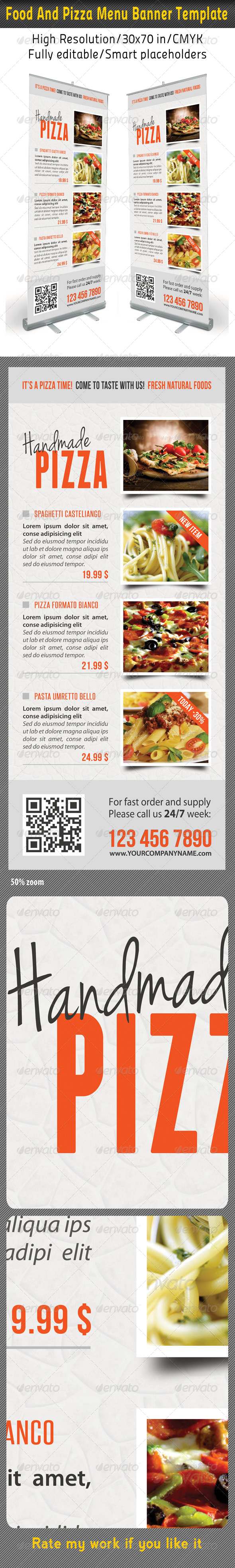 GraphicRiver Food And Pizza Menu Banner Template 09 7489152