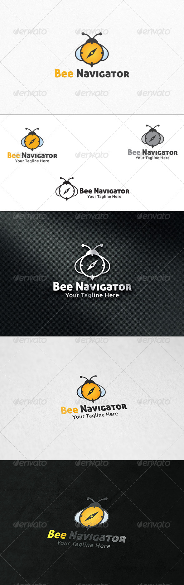 GraphicRiver Bee Navigator Logo Template 7489154