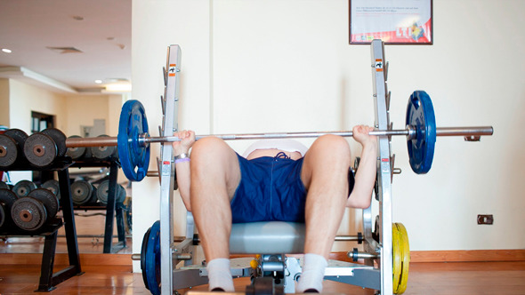 Exercising With A Weight Bar
